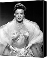 Tulle Canvas Prints - Jean Peters, Ca. Mid-1950s Canvas Print by Everett