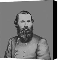 Bars Canvas Prints - JEB Stuart -- Confederate General Canvas Print by War Is Hell Store