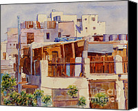 Arabia Canvas Prints - Jeddah Rooftops Canvas Print by Dorothy Boyer