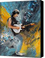Guitar Hero Canvas Prints - Jeff Beck 01 Canvas Print by Miki De Goodaboom
