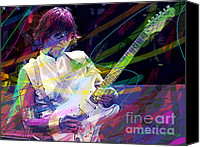 Blues Guitar Canvas Prints - Jeff Beck Bolero Canvas Print by David Lloyd Glover
