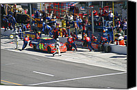 Racing Number Canvas Prints - Jeff Gordon Pit Crew In Action Canvas Print by Kym Backland
