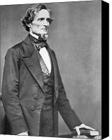 Politician Canvas Prints - Jefferson Davis Canvas Print by American Photographer
