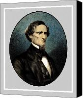 Senator Canvas Prints - Jefferson Davis Canvas Print by War Is Hell Store
