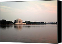 D.c. Canvas Prints - Jefferson Monument Across the Bay Canvas Print by Douglas Barnett