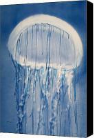 Jellyfish Painting Canvas Prints - Jellybean Canvas Print by Tanya L Haynes - Printscapes