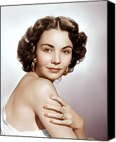 Gold Earrings Photo Canvas Prints - Jennifer Jones, Ca. Early 1950s Canvas Print by Everett
