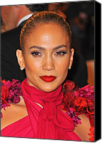 Metropolitan Museum Of Art Costume Institute Canvas Prints - Jennifer Lopez At Arrivals Canvas Print by Everett