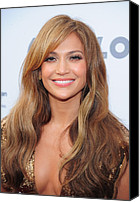 Lip Gloss Canvas Prints - Jennifer Lopez At Arrivals For Apollo Canvas Print by Everett