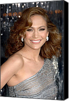 Lip Gloss Canvas Prints - Jennifer Lopez At Arrivals For The Canvas Print by Everett