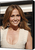 At The Press Conference Canvas Prints - Jennifer Lopez At The Press Conference Canvas Print by Everett