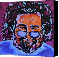 Grateful Dead Canvas Prints - Jerry Garcia-Its A Me Thing Canvas Print by Bill Manson