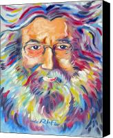 Joseph Palotas Canvas Prints - Jerry Garcia Canvas Print by Joseph Palotas