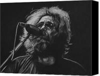 Grateful Dead Canvas Prints - Jerry Garcia Canvas Print by Steve Hunter