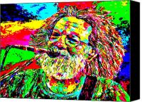 Singer Painting Canvas Prints - Jerry Canvas Print by Mike OBrien