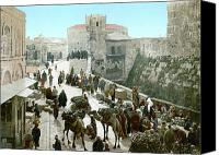 Crowd Scene Canvas Prints - JERUSALEM: BAZAAR, c1900 Canvas Print by Granger