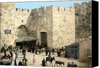 Empire Photo Canvas Prints - Jerusalem: Jaffa Gate Canvas Print by Granger