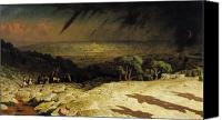 Setting Sun Canvas Prints - Jerusalem Canvas Print by Jean Leon Gerome