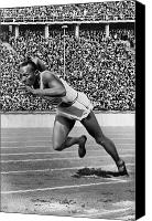 Ambition Canvas Prints - Jesse Owens (1913-1980) Canvas Print by Granger