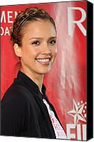 Updo Canvas Prints - Jessica Alba At A Public Appearance Canvas Print by Everett