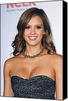 2011 Nclr Alma Awards Photo Canvas Prints - Jessica Alba At Arrivals For 2011 Nclr Canvas Print by Everett