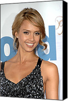 Good Luck Photo Canvas Prints - Jessica Alba At Arrivals For Premeire Canvas Print by Everett