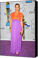The 2011 Cfda Fashion Awards Canvas Prints - Jessica Alba Wearing A Custom Diane Von Canvas Print by Everett