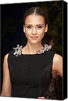 The White House Canvas Prints - Jessica Alba Wearing A Marios Schwab Canvas Print by Everett