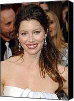 Academy Awards Oscars Canvas Prints - Jessica Biel At Arrivals For 81st Canvas Print by Everett