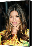 Alice Tully Hall At Lincoln Center Canvas Prints - Jessica Biel At Arrivals For The 2010 Canvas Print by Everett