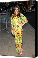 2010s Fashion Canvas Prints - Jessica Biel Wearing Diane Von Canvas Print by Everett