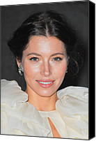 Updo Canvas Prints - Jessica Biel  Wearing Fred Leighton Canvas Print by Everett