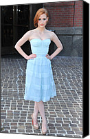 2010s Fashion Canvas Prints - Jessica Chastain Wearing A Christian Canvas Print by Everett