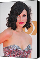 Nokia Theatre Canvas Prints - Jessica Pare At Arrivals For The 63rd Canvas Print by Everett