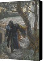 Tissot Canvas Prints - Jesus Appears to Mary Magdalene Canvas Print by Tissot