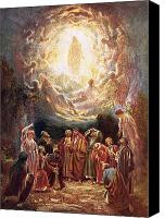 Son Canvas Prints - Jesus ascending into heaven Canvas Print by William Brassey Hole