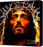King Digital Art Canvas Prints - Jesus Christ The Savior Canvas Print by Pamela Johnson