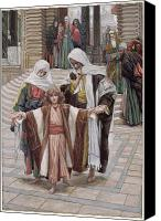 Tissot Canvas Prints - Jesus Found in the Temple Canvas Print by Tissot