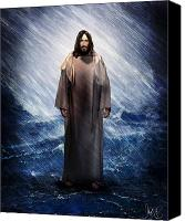 Storm Prints Mixed Media Canvas Prints - Jesus is there Canvas Print by Mark Spears