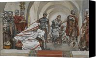 Tissot Canvas Prints - Jesus Led from Herod to Pilate Canvas Print by Tissot