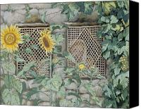 Tissot Canvas Prints - Jesus Looking through a Lattice with Sunflowers Canvas Print by Tissot