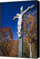 Faith Canvas Prints - Jesus on the Cross Canvas Print by Adam Romanowicz