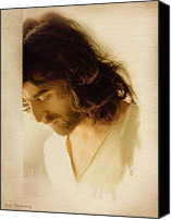 Praying Canvas Prints - Jesus Praying Canvas Print by Ray Downing