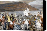 Tissot Canvas Prints - Jesus Preaching Canvas Print by Tissot