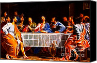 Last Supper Canvas Prints - Jesus The Last Supper Canvas Print by Pamela Johnson
