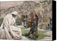 Rocks Painting Canvas Prints - Jesus Wept Canvas Print by Tissot