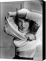 1950 Movies Photo Canvas Prints - Jet Pilot, Janet Leigh, 1950, Released Canvas Print by Everett