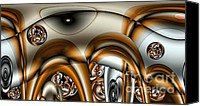 Merging Digital Art Canvas Prints - Jet Stream Canvas Print by Ron Bissett