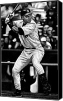 Derek Canvas Prints - Jeter Canvas Print by Jerry Winick