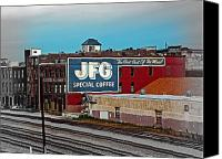 Fine Art Photo Canvas Prints - JFG Coffee Canvas Print by Steven  Michael